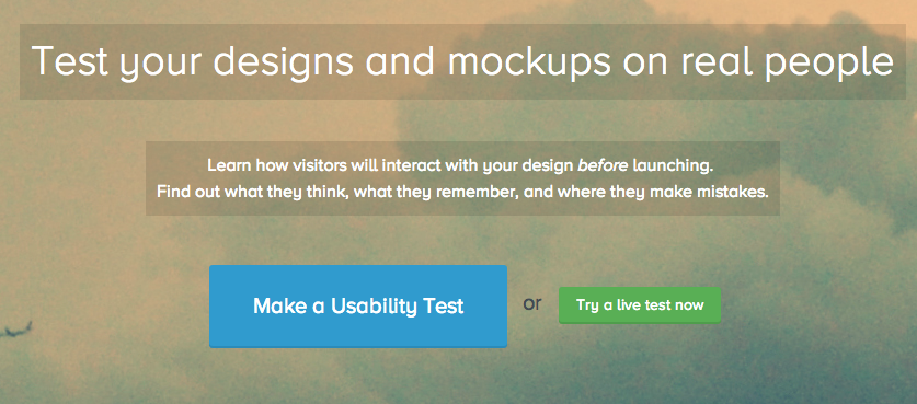 Five Second Test crowdsources website tests for free.